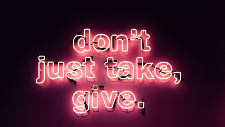 Neonschrift don't