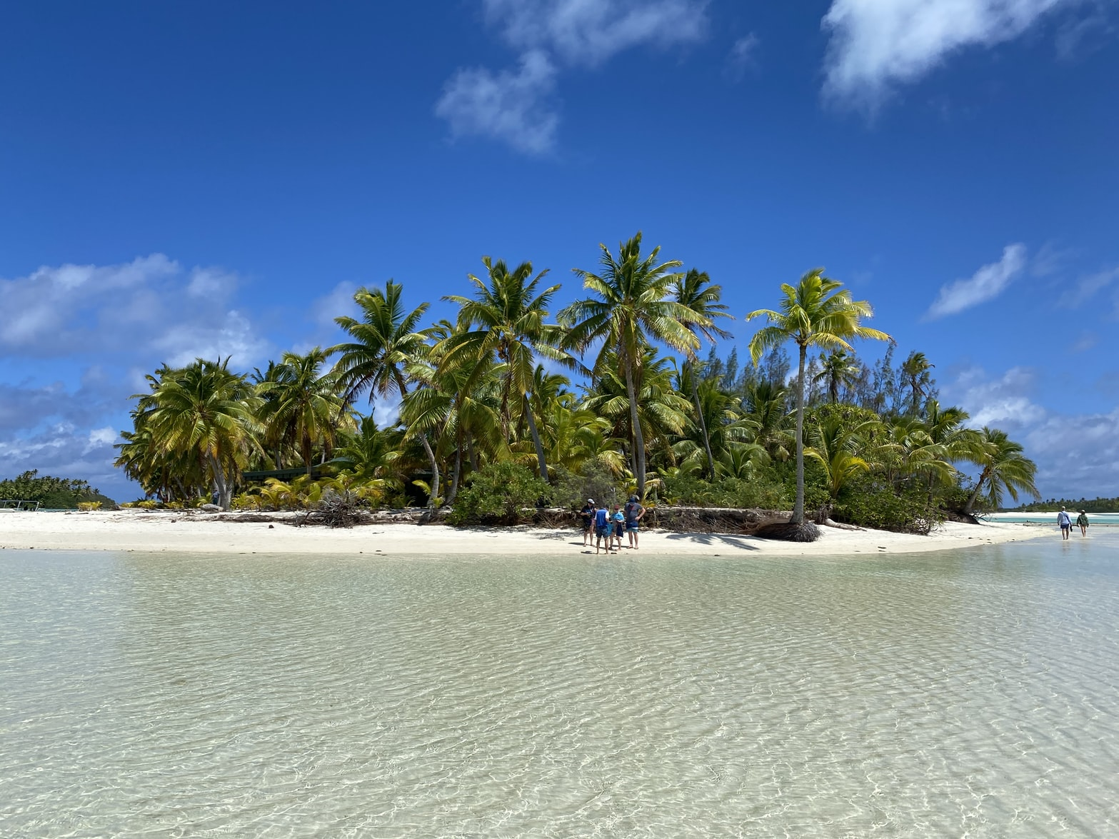 Blick auf One Foot Island Aitutaki Cookinseln