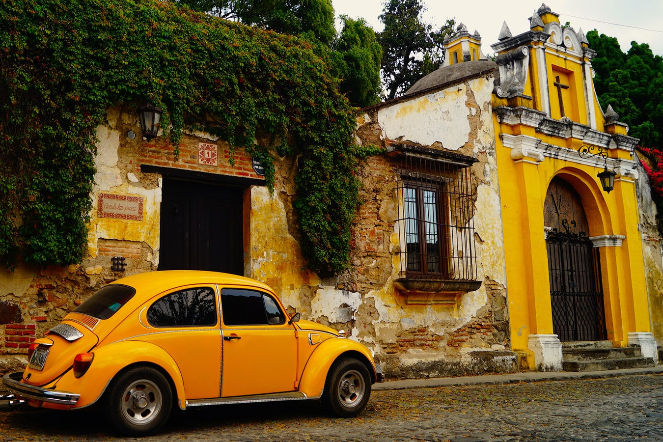Straßenansicht in Antigua Guatemala