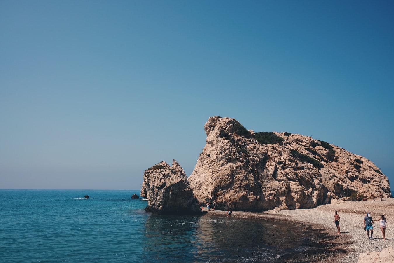 Blick auf Aphrodite Rock Paphos Zypern