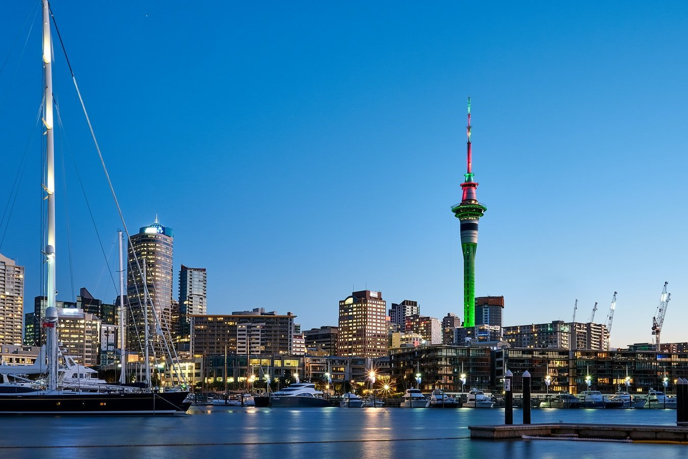 Skyline mit Skytower Auckland Neuseeland