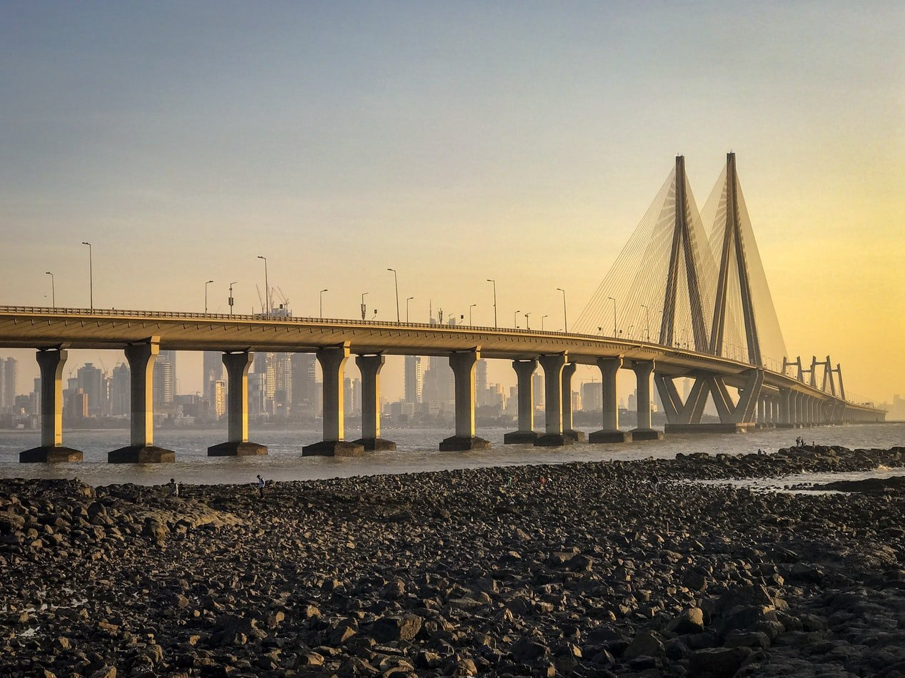 Bandra Worli Sea Link in Mumbai Indien
