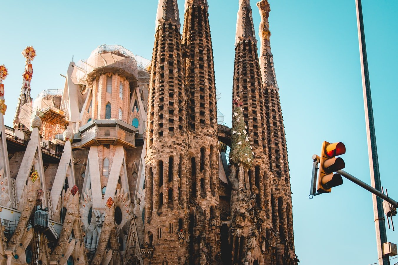 La Sagrada Familia in Barcelona Spanien