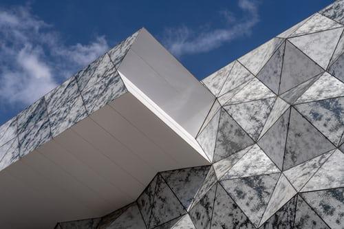Architekturdetail in Belval Luxemburg