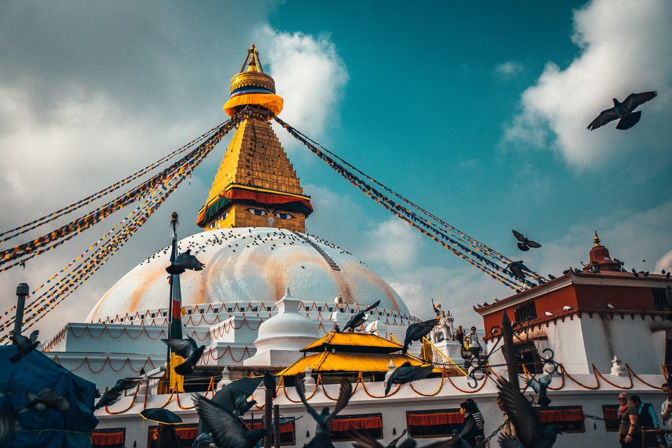 Stupa von Bodnath in Kathmandu Nepal