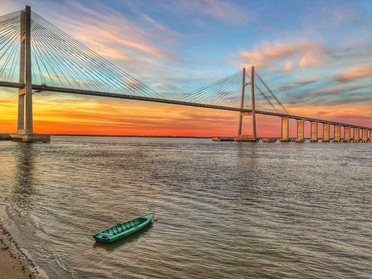 Brücke von Rosario nach Victoria in Argentinien