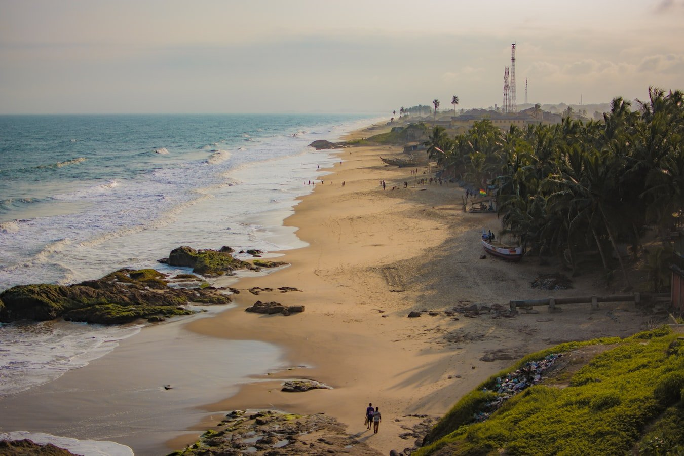 Vogelperspektive auf Cape Coast Ghana