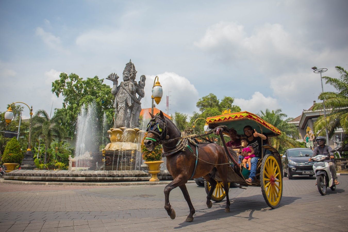 Pferdekutsche in Denpasar Bali
