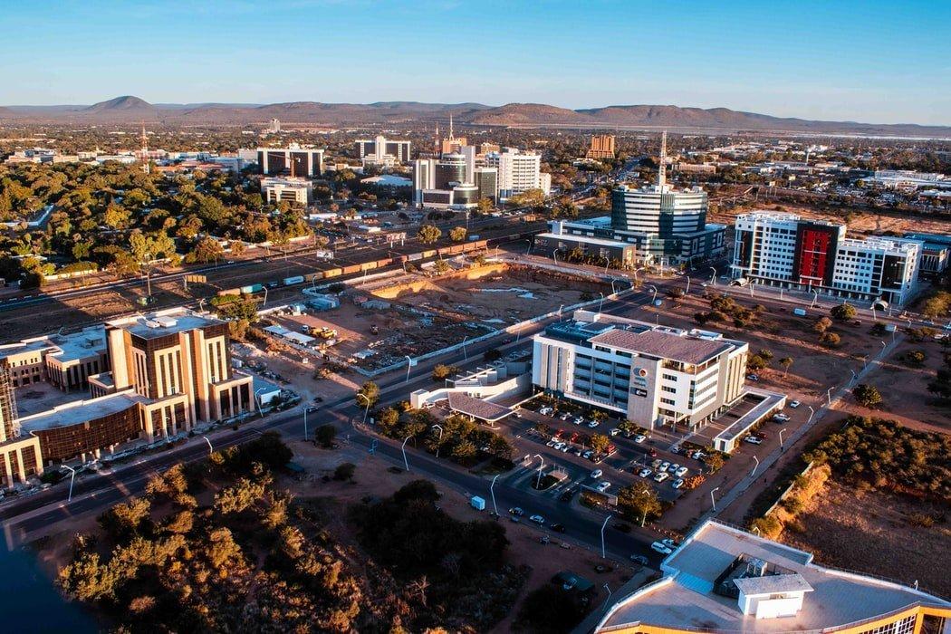 Stadtansicht Gaborone Botswana