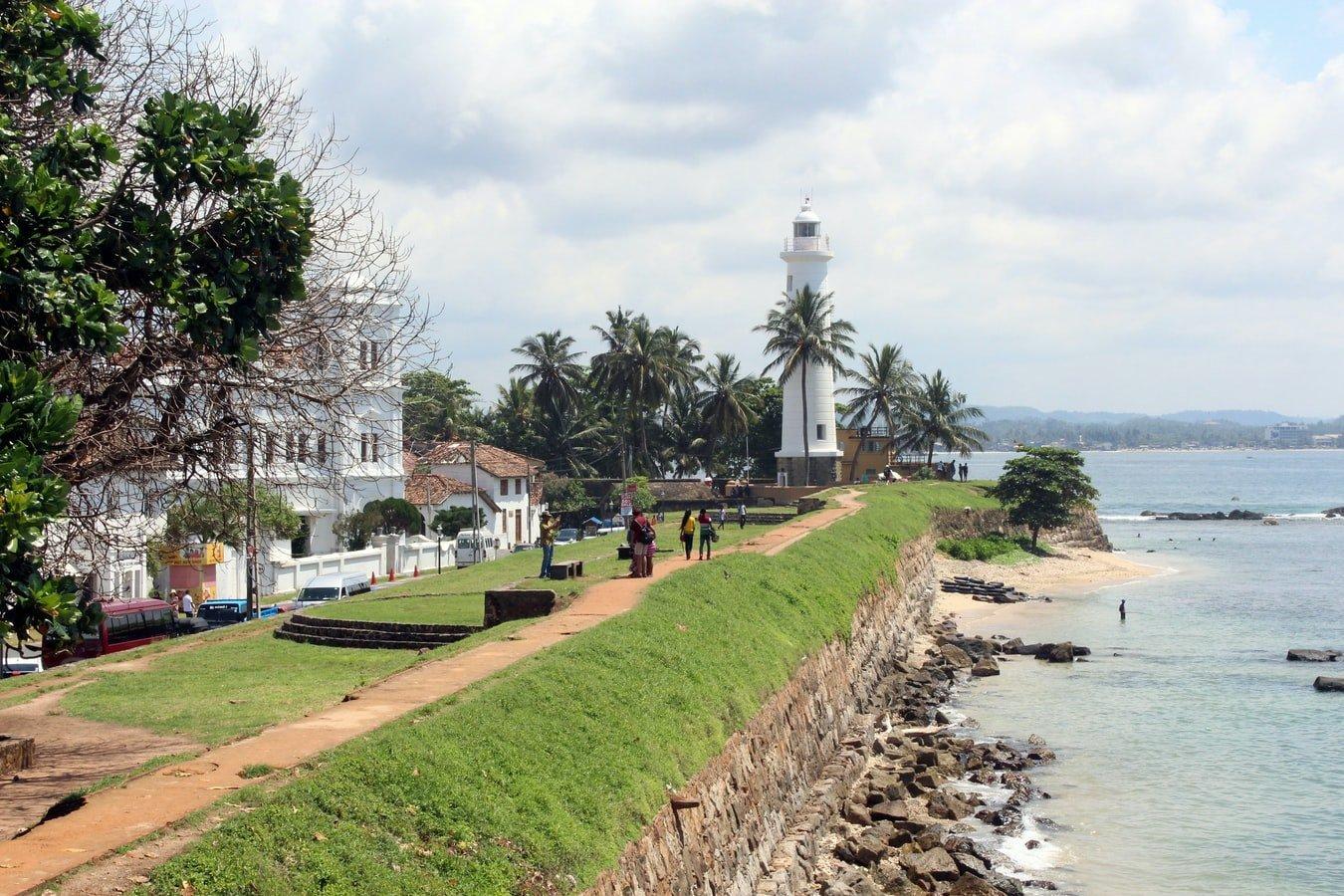 Leuchtturm im Galle Fort Sri Lanka