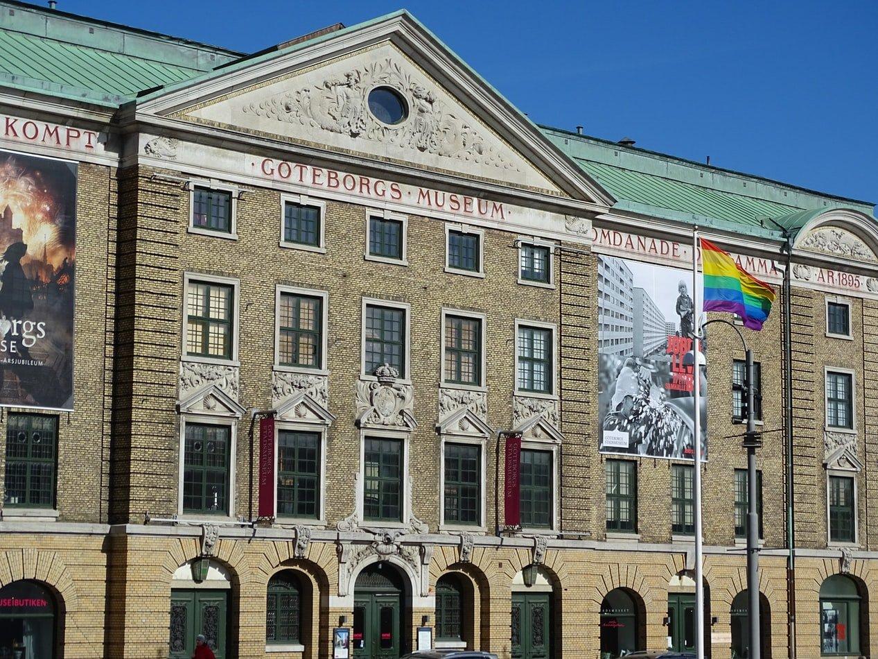 Fassade von Göteborgs Stadsmuseum in Schweden