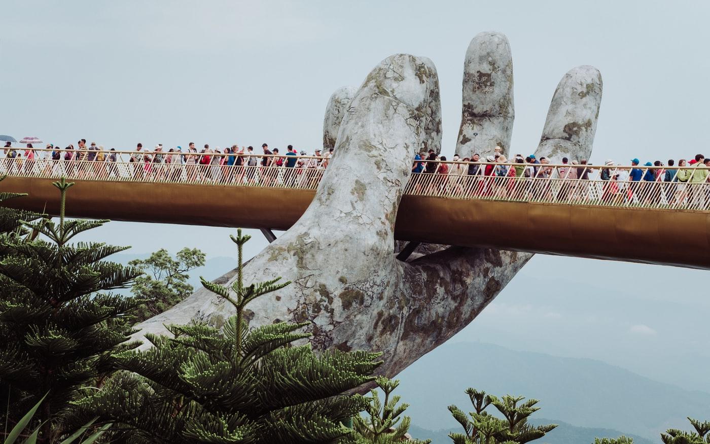 Golden Bridge in Bà Nà Hills Vietnam