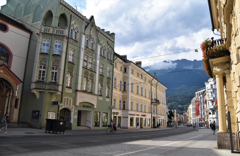 Straßenansicht in Innsbruck Österreich