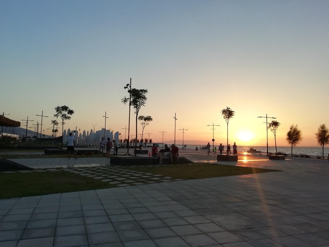 Strandpromenade in Izmir Türkei