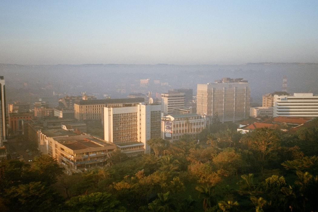 Blick auf Kampala Uganda