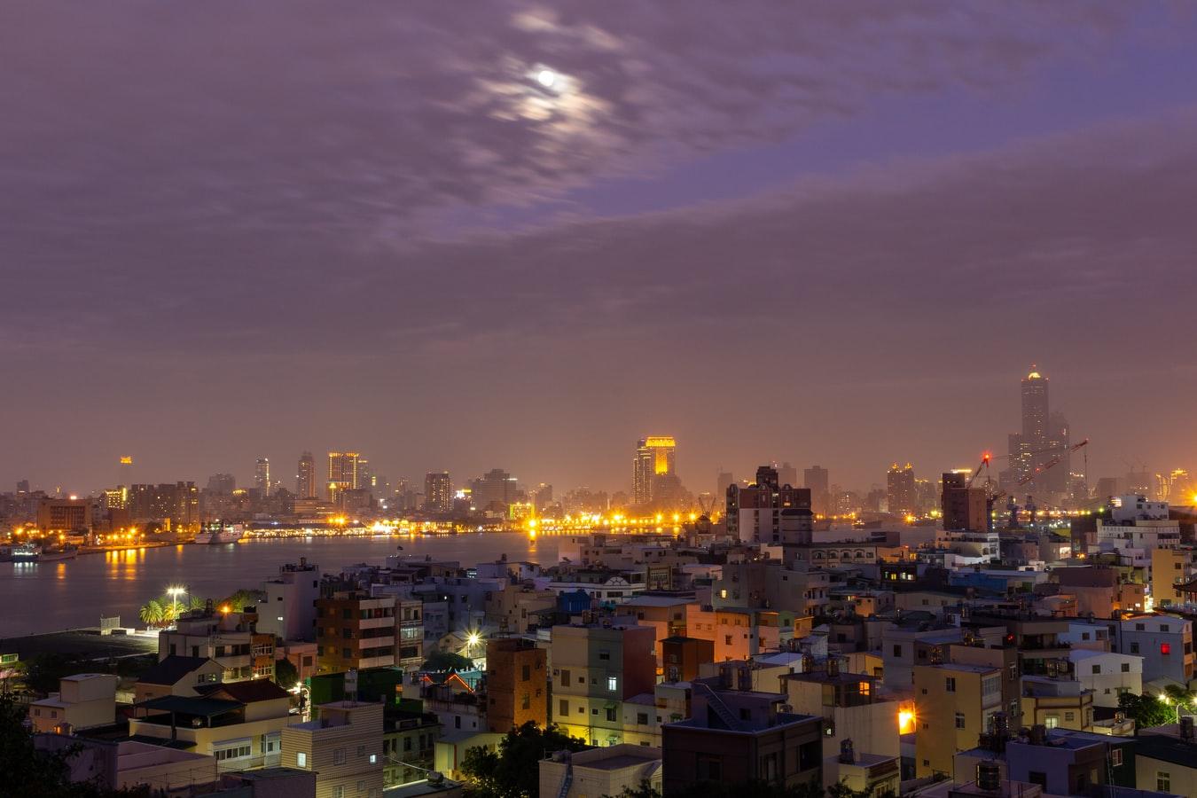 Stadtansicht von Kaohsiung Taiwan