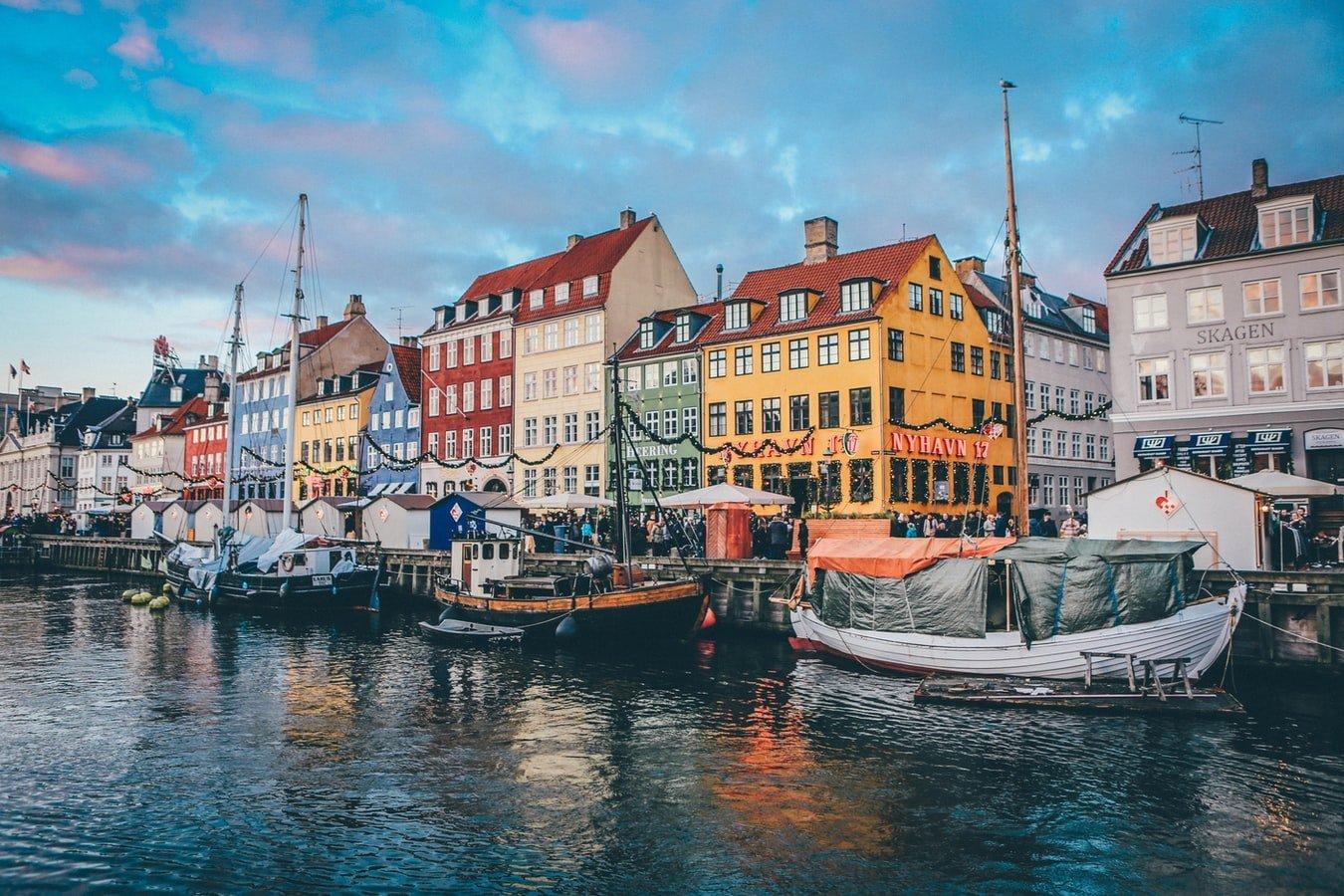 Nyhavn in Kopenhagen Dänemark