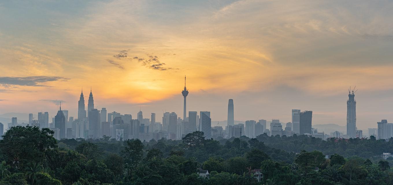 Skyline von Kuala Lumpur Malaysia