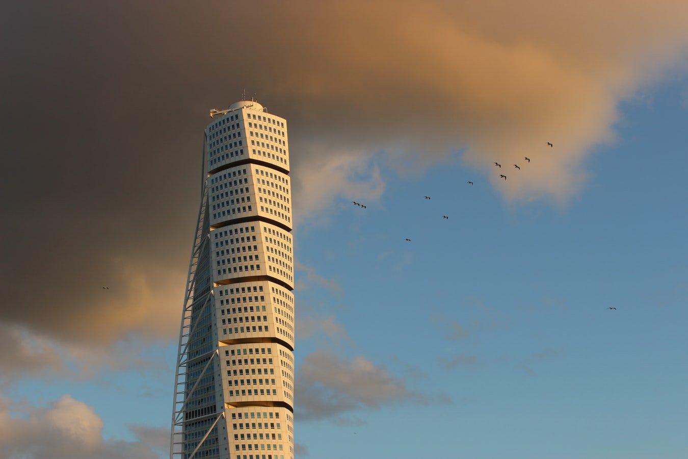 Turning Torso Wolkenkratzer in Malmö Schweden