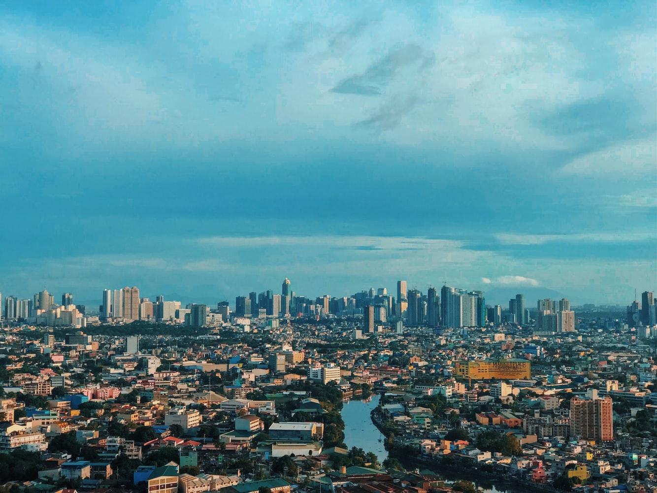 Vogelperspektive auf Manila Philippinen