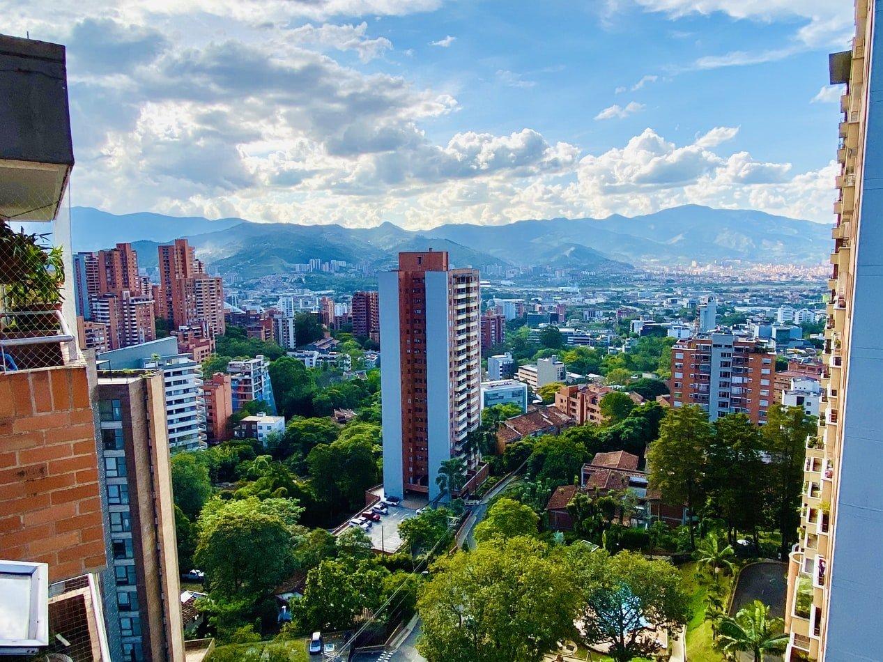 Stadtansicht von Mellín Kolumbien
