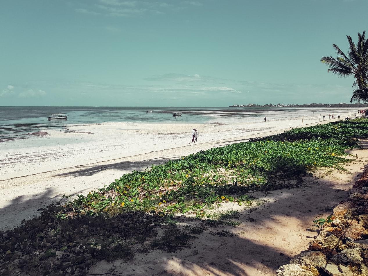 Strand Nähe Mombasa in Kenia