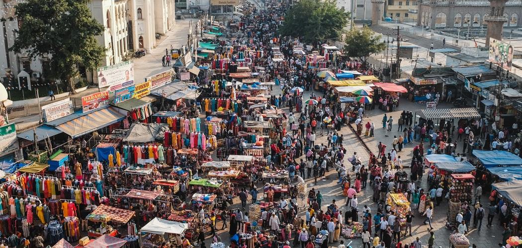 Marktreiben in der Altstadt von Hyderabad Indien