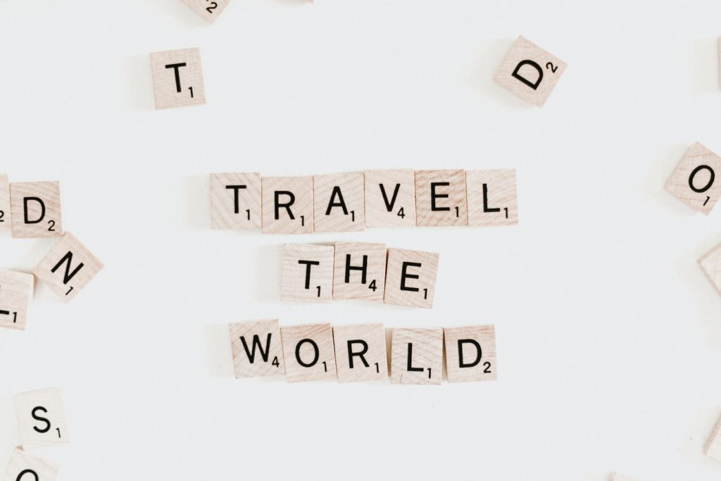 Scrabble Buchstaben Travel the World