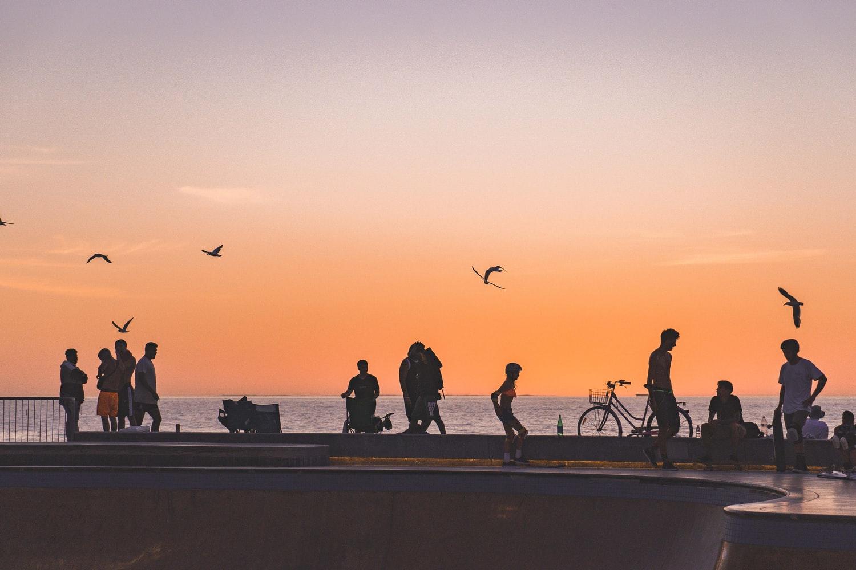Sonnenuntergang am Scarborough Beach in Perth Australien