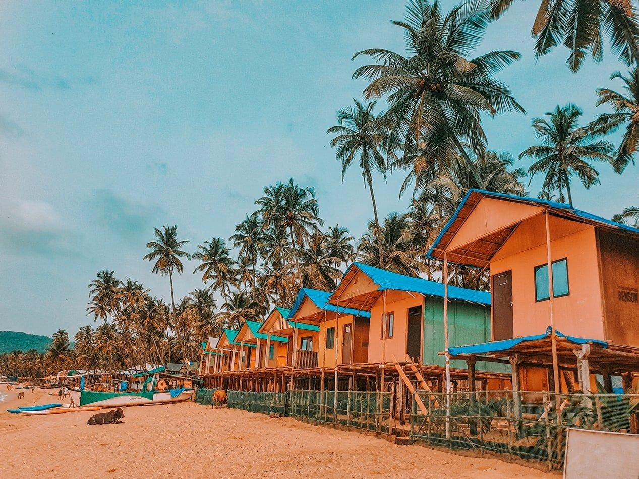Strandhütten in Goa Indien
