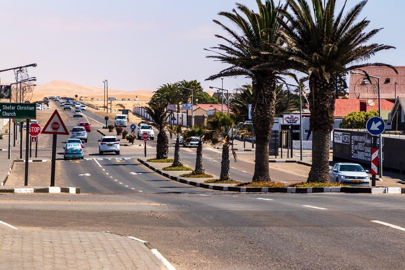 Stadtansicht von Swakopmund in Namibia