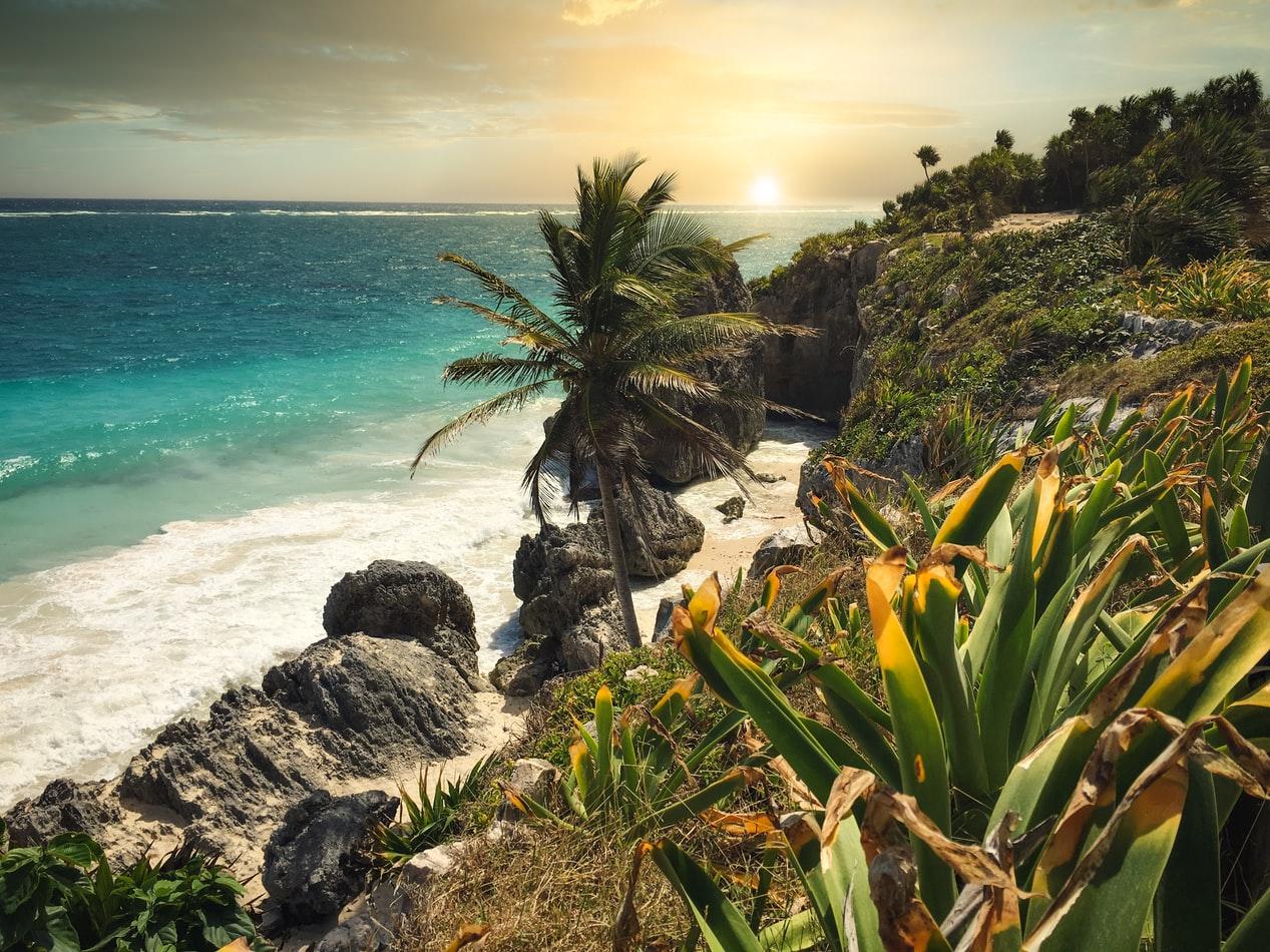 Küste in Tulum Mexiko