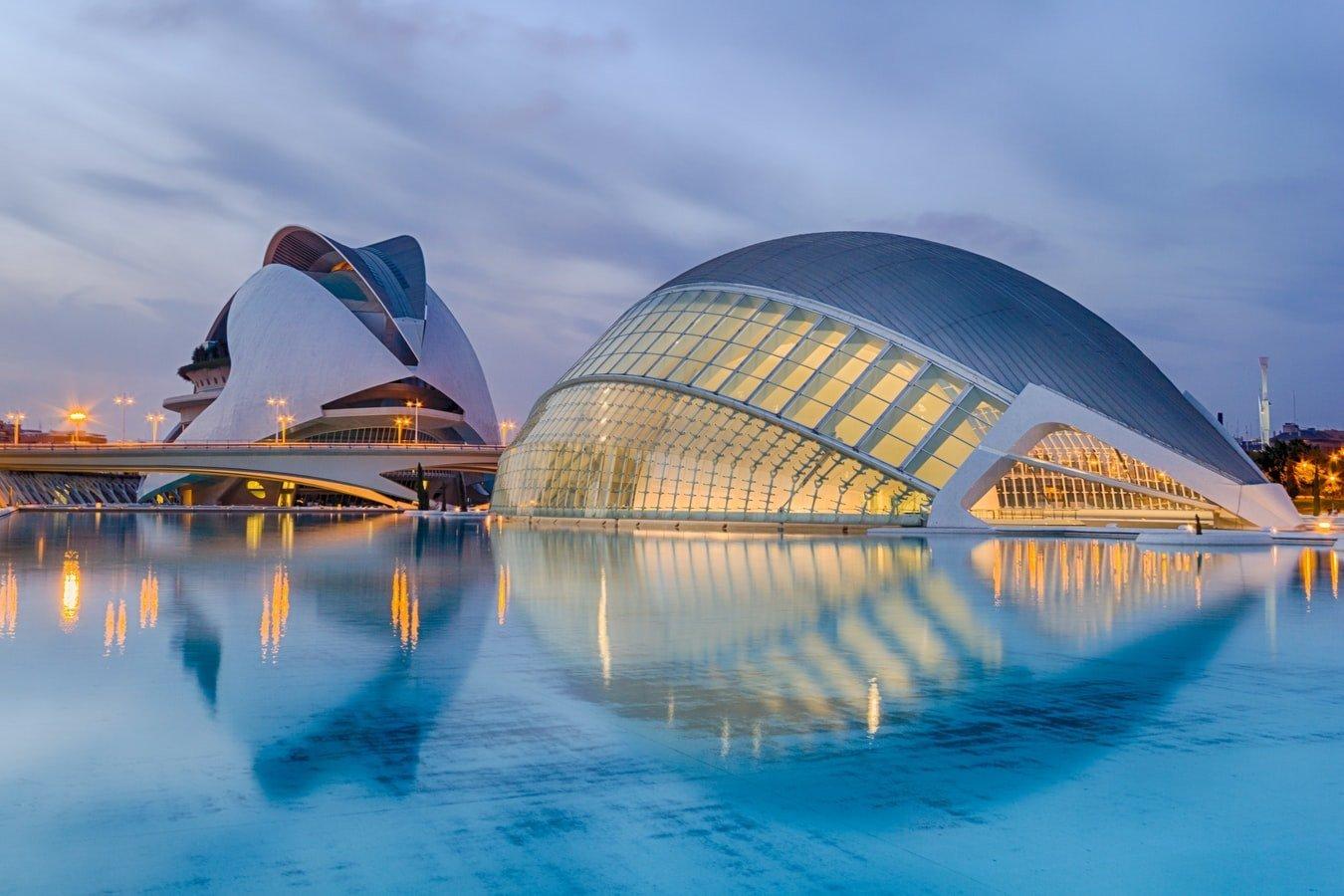 Stadt der Künste und Wissenschaften in Valencia Spanien