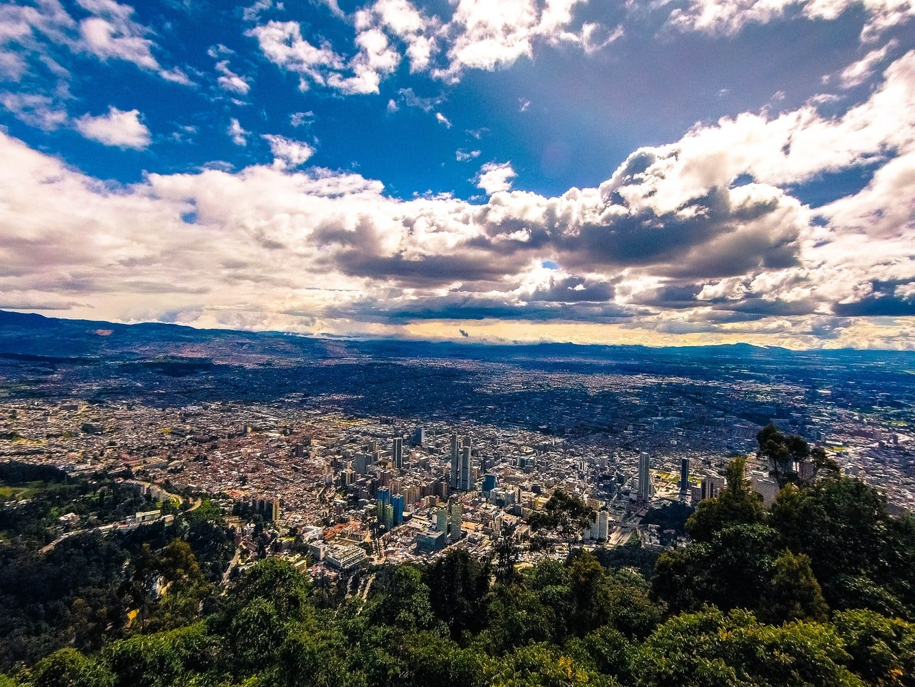 Blick auf Bogota Kolumbien